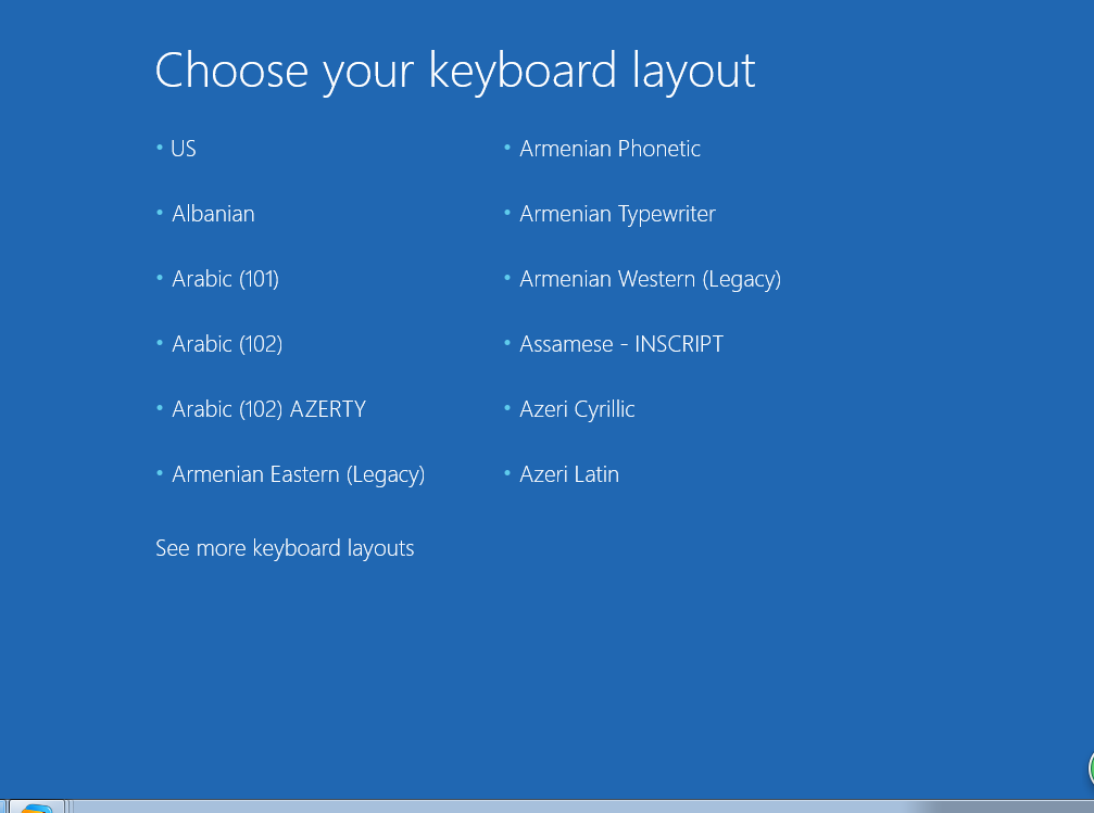 choose keyboard