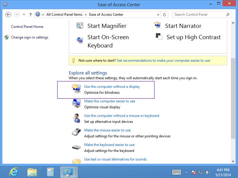 turn off narrator windows 8 keyboard shortcut