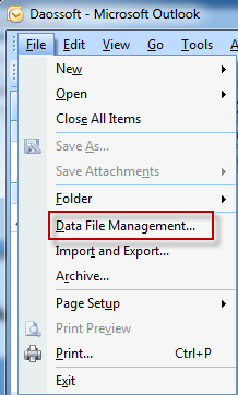 data file management