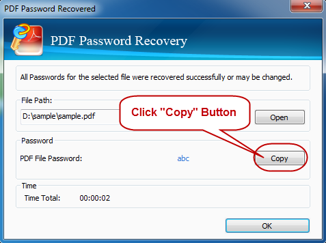 Get Back PDF Password