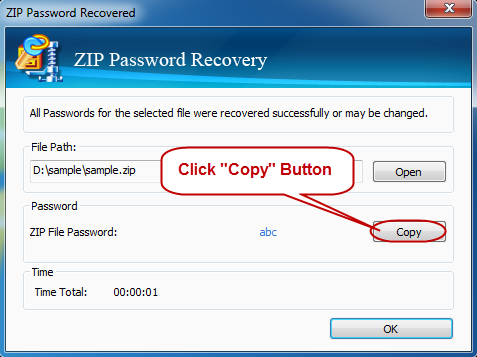 Get Back ZIP Password