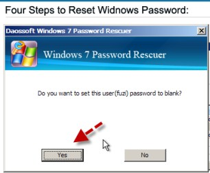 reset password and yes