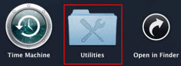 Click on Utilities icon.