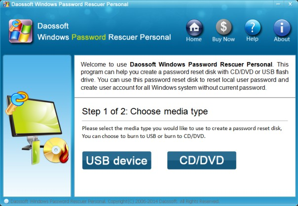 DaosSoft Windows Password Rescuer Personal