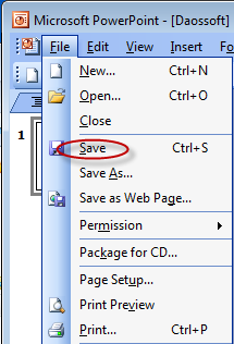 Important: If you unfortunately lost or forgot the PowerPoint 2003 presenta