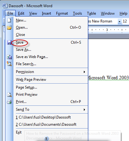 remove security from pdf document