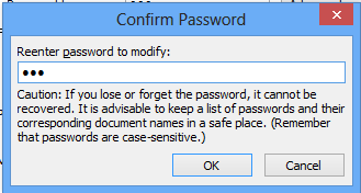 confirm modify password