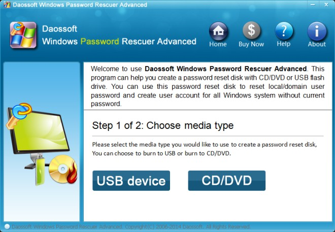 burn password disk