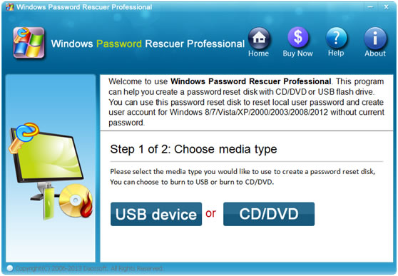 choose usb or cd dvd