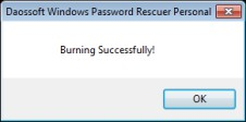 burning password usb done