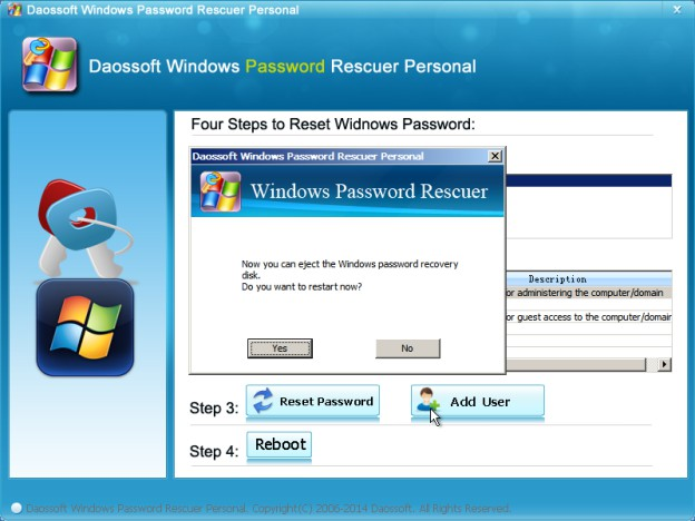 how to recover account password on windows 7