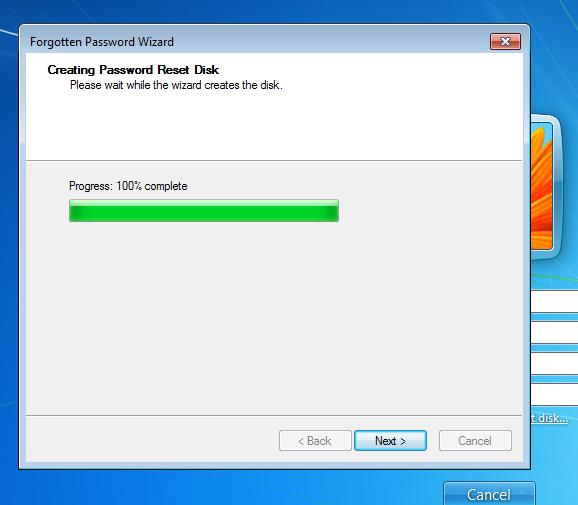 Password Reset Disk Windows 7