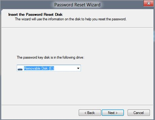 password reset for windows 8