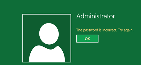 incorrect password? how to?