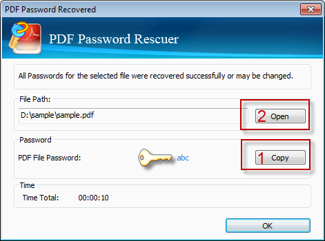 Get the password recovered