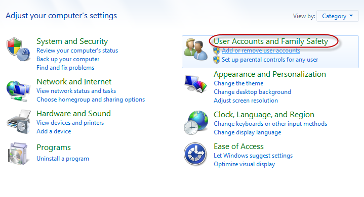 choose user accounts