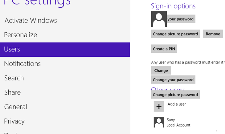 How to Set Up a PIN Code or a Picture Password on Windows 8