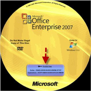 how to find office product key 2007