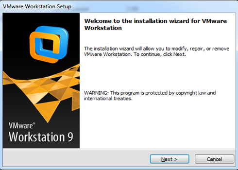 Welcome to the installation wizard for VMware Workstation