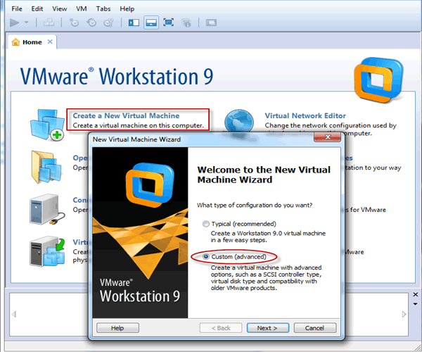 how to create virtual machines in vmware workstation daossoft. Black Bedroom Furniture Sets. Home Design Ideas