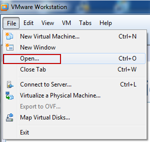 open an existing virtual machine