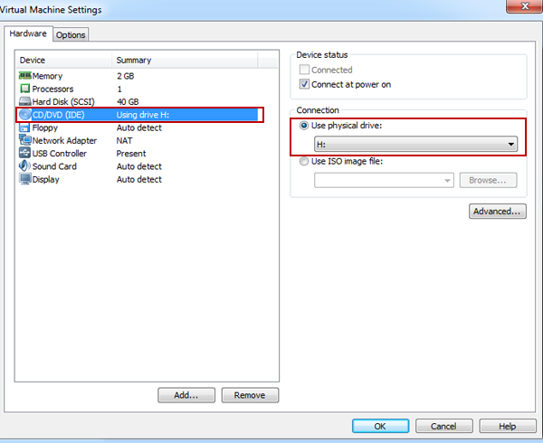 How to Set Up VMware to Boot from a Physical CD/DVD Drive | Daossoft