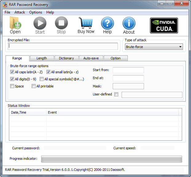 Click to view Daos RAR Password Recovery screenshots