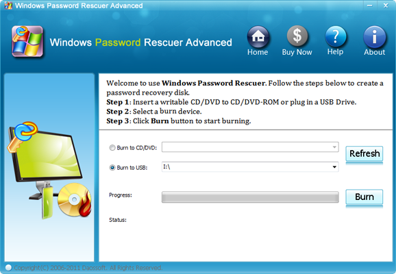 Click to view Windows Password Rescuer Advanced screenshots